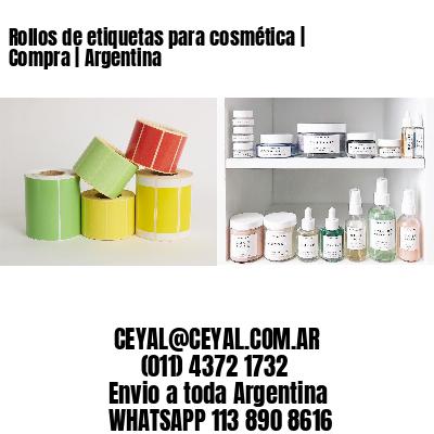 Rollos de etiquetas para cosmética   Compra   Argentina