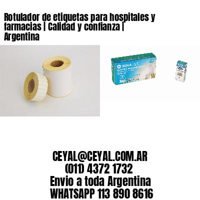 Rotulador de etiquetas para hospitales y farmacias   Calidad y confianza   Argentina