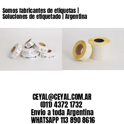 Somos fabricantes de etiquetas   Soluciones de etiquetado   Argentina