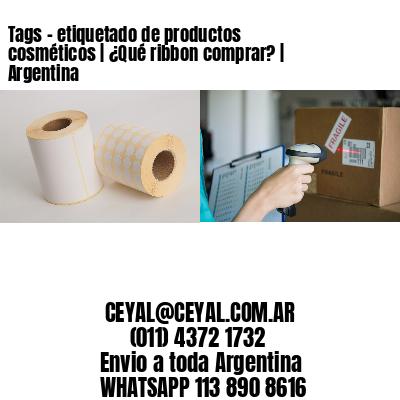 Tags - etiquetado de productos cosméticos | ¿Qué ribbon comprar? | Argentina